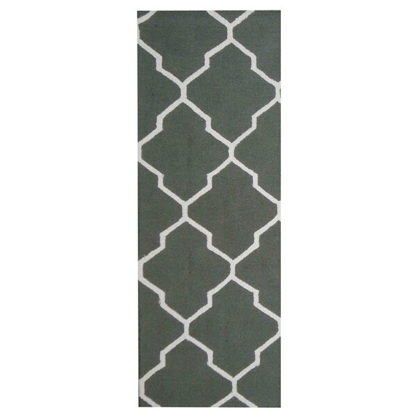 Hand-Tufted Green/Ivory Indoor Area Rug by Herat Oriental