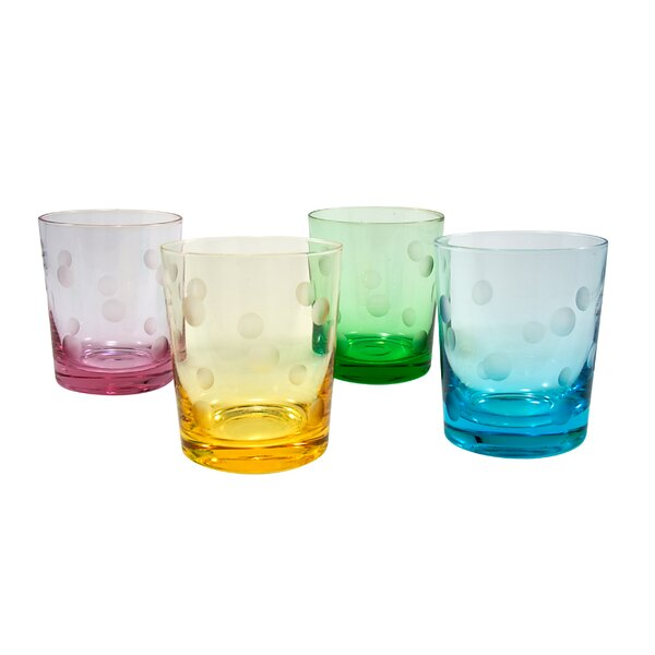 Brumit Polka Dot 12 Oz. DOF Glass (Set of 4) by Ivy Bronx