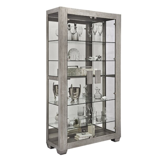 Alberto Lighted 5 Shelf Curio Cabinet by Gracie Oaks Gracie Oaks