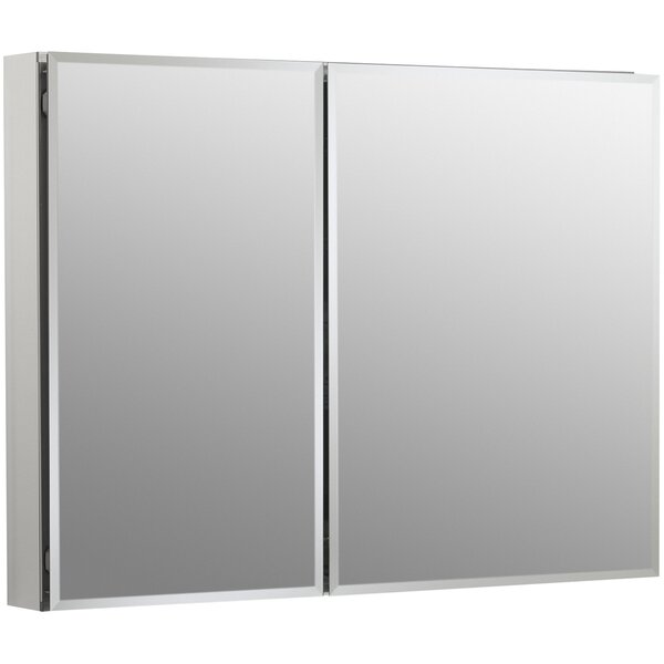 Aluminum Two-Door Medicine Cabinet with Square Mirrored Doors by Kohler