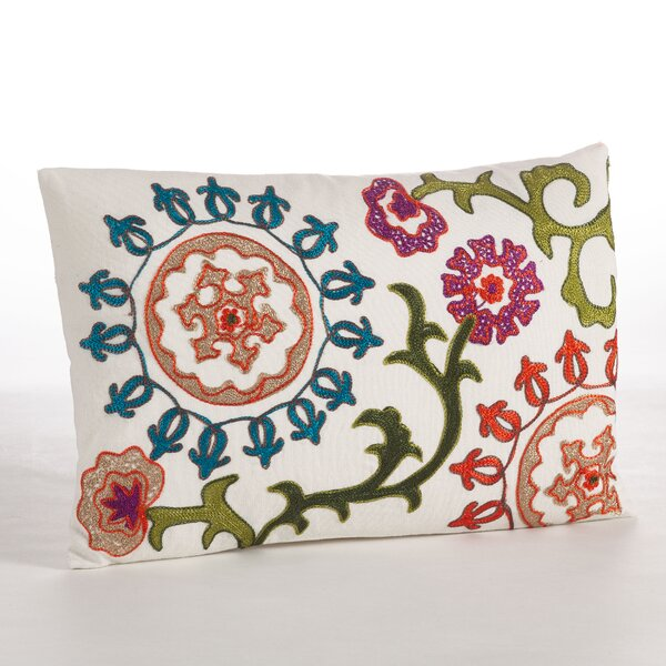 Embroidered Cotton Throw Pillow by Saro