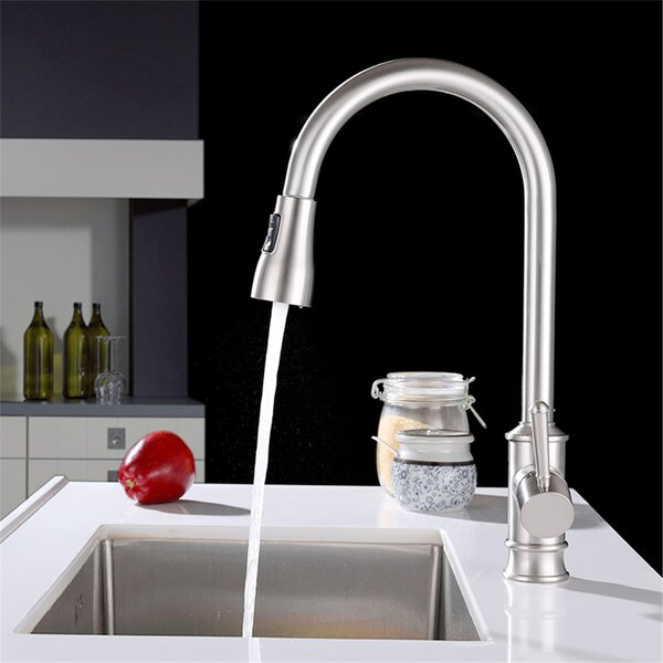 Stainless Steel Pull Down Single Handle Kitchen Faucet