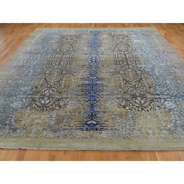 One-of-a-Kind Hallissey Hand-Knotted Brown/Gray 12'2 x 15'4 Area Rug