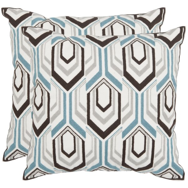 Indie Cotton Throw Pillow (Set of 2) by Safavieh