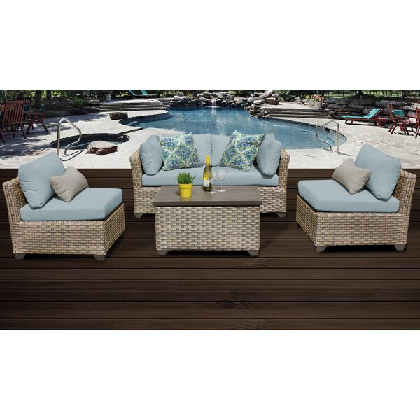Rochford 5 Piece Rattan Sofa Seating Group with Cushions by Sol 72 Outdoor