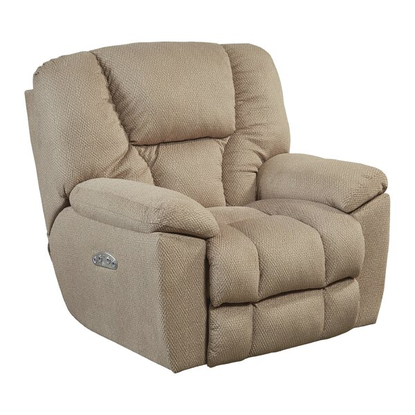 Midwest Headrest/Lumbar Lay Flat Power Recliner by Red Barrel Studio Red Barrel Studio