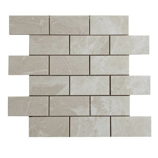 Polished 2 x 4 Natural Stone Mosaic Tile in Crema Marfil by QDI Surfaces