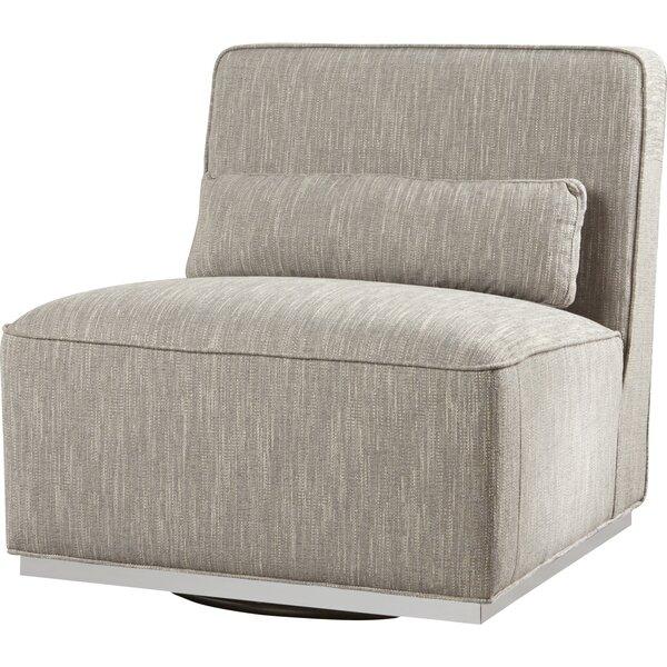 Aranda Swivel Slipper Chair By Everly Quinn