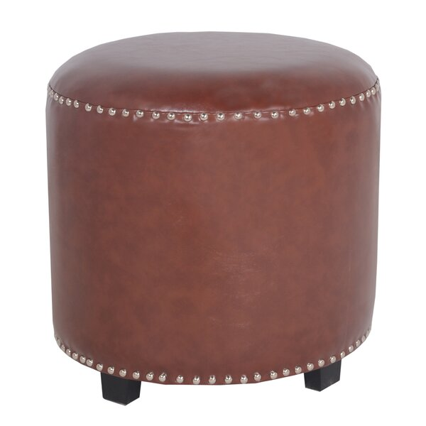 Georgia Leather Accent Stool by Porthos Home