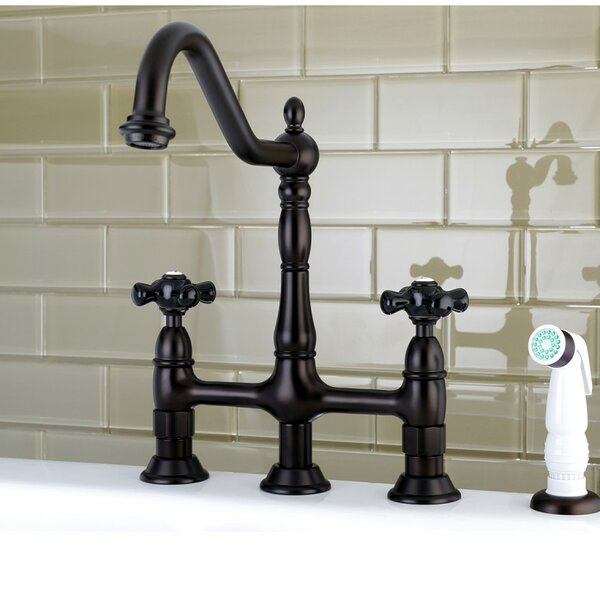 Duchess Pull Down Bridge Faucet with Side Sprayer by Kingston Brass