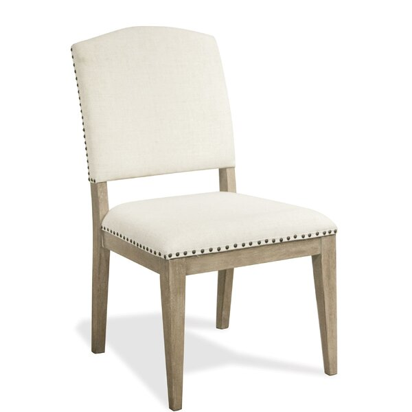 Whittier Upholstered Side Chair In Natural (Set Of 2) By Rosecliff Heights