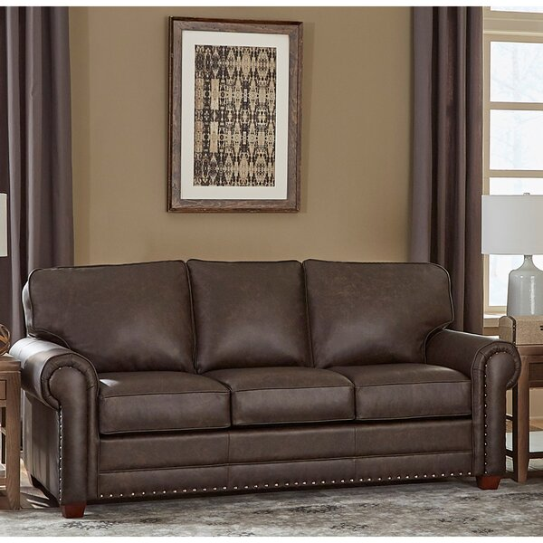 Lexus Leather Sofa Bed by 17 Stories