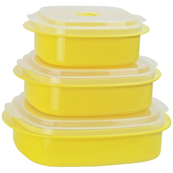 Calypso Basics 3 Container Food Storage Set (Set of 2) by Reston Lloyd