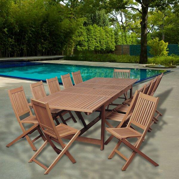 Faxon International Home Outdoor 13 Piece Dining Set Bayou Breeze W002482057