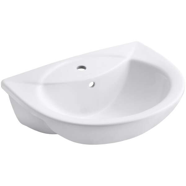Odeon Ceramic U-Shaped Drop-In Bathroom Sink with Overflow by Kohler
