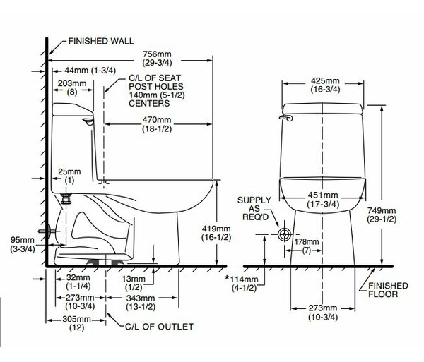 Champion 4 Right Height 1.6 GPF Elongated One-Piece Toilet by American Standard