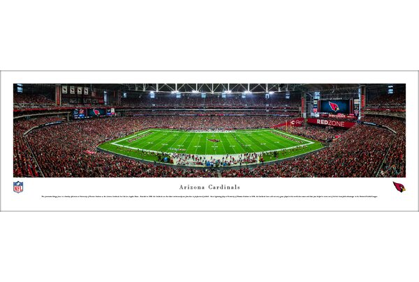 NFL Arizona Cardinals 50 Yard Line Photographic Print by Blakeway Worldwide Panoramas, Inc