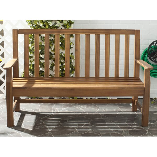 Indaka Acacia Wood Garden Bench by Safavieh