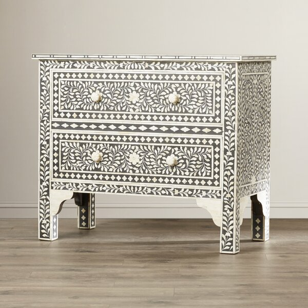 Irvington 2 Drawer Accent Chest by Bungalow Rose