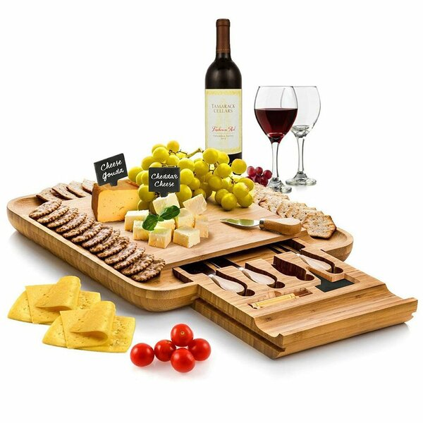 Bamboo Cheese Board and Platter by Belmint