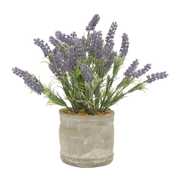 Lavender Desktop Floral Arrangement in Pot by Gracie Oaks