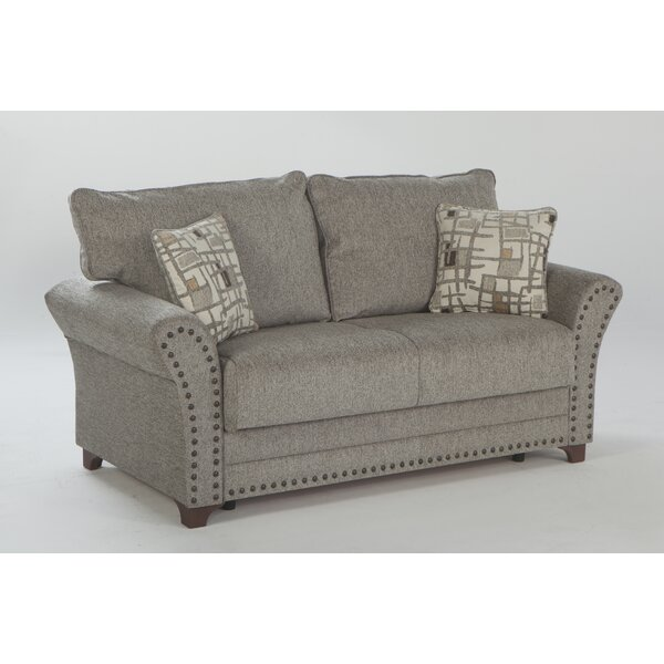 Moundville Rolled Arm Love Seat By Canora Grey