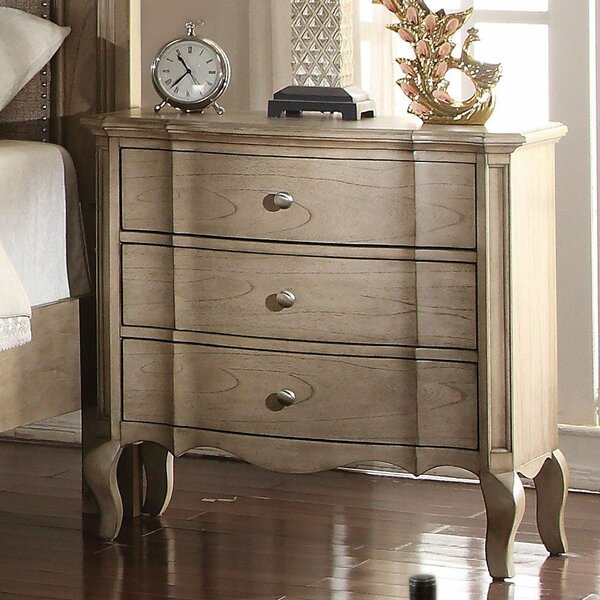 Hymel 3 - Drawer Solid Wood Bachelor's Chest In Antique Taupe By Canora Grey