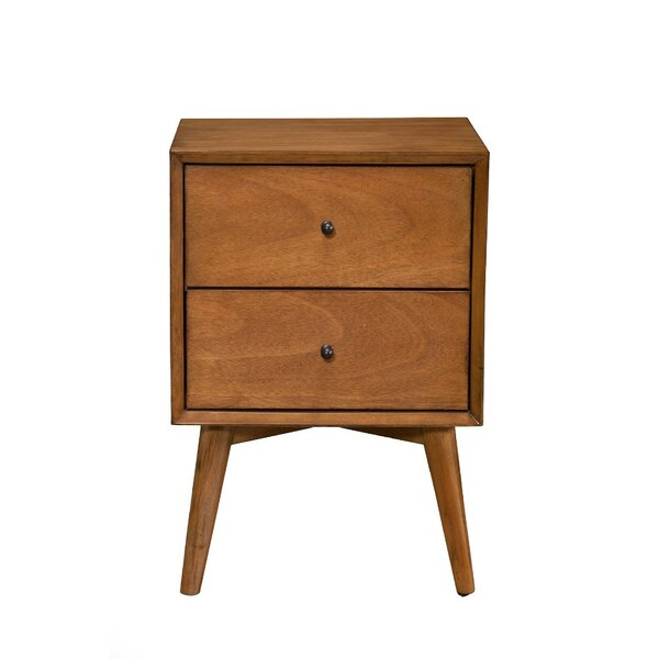 Gloucester Mahogany Wood 2 Drawer Nightstand by George Oliver