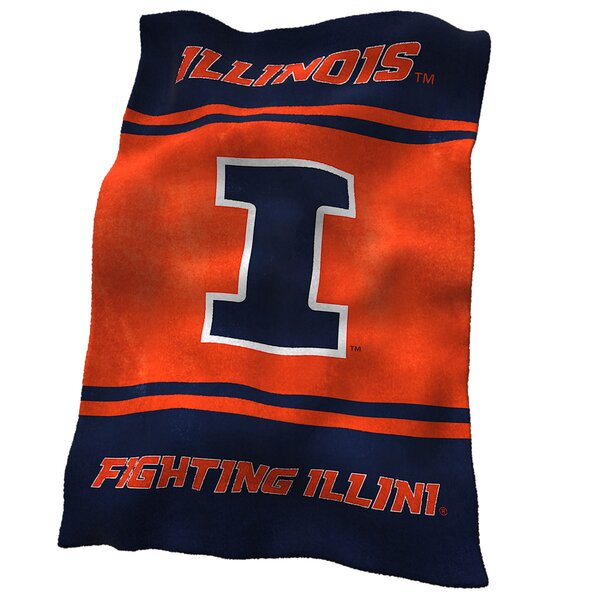 Illinois Ultra Soft Throw by Logo Brands