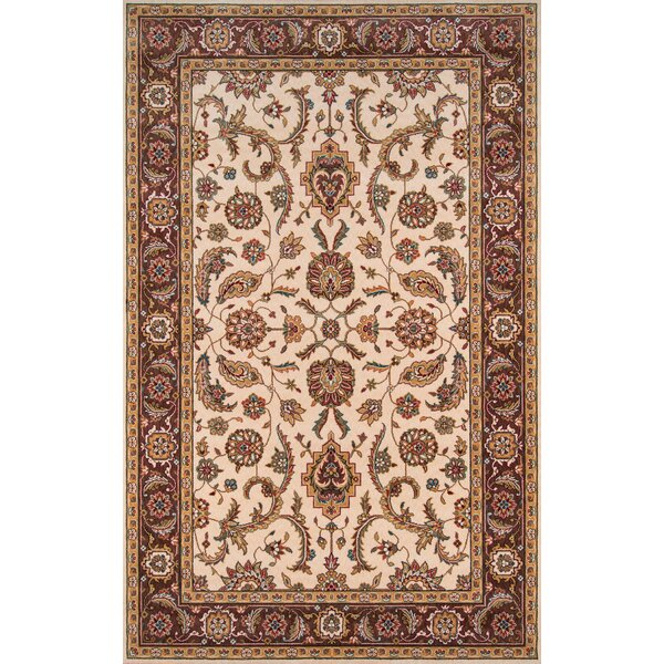 Forrestal Cocoa/Ivory Area Rug by Astoria Grand