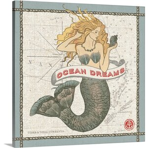 'Drift away Mermaid' by Sue Schlabach Graphic Art on Wrapped Canvas by Great Big Canvas