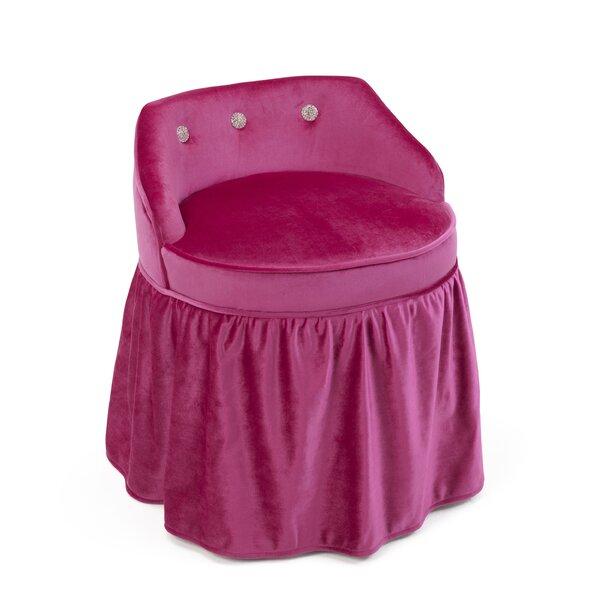 Beebe Upholstered Vanity Kids Stool by Zoomie Kids