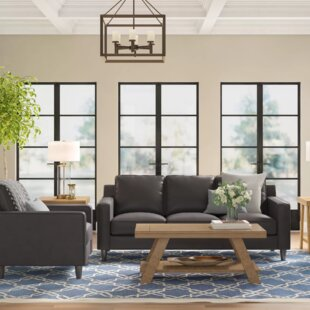 Nalston Genuine Leather Living Room Set by Three Posts™