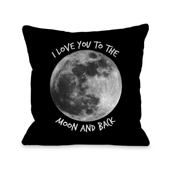 To The Moon and Back Moon Throw Pillow by One Bella Casa
