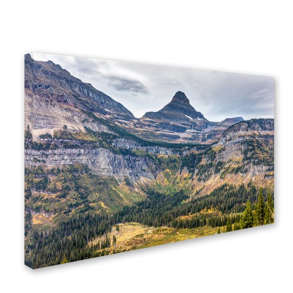 Glacier National Park in Autumn by Pierre Leclerc Photographic Print on Wrapped Canvas by Trademark Fine Art