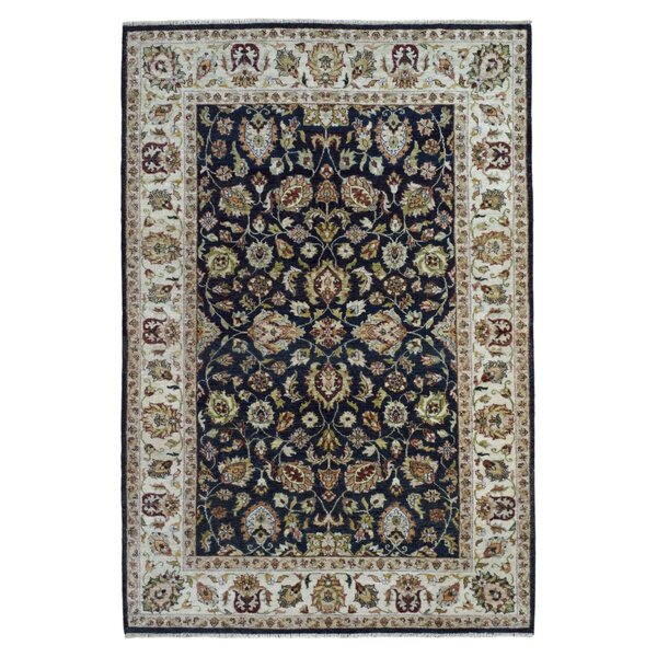 One-of-a-Kind Belda Oriental Hand-Woven Wool Navy Area Rug by Darby Home Co
