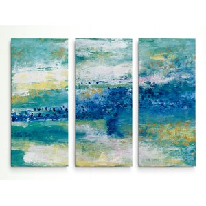 'Sea Isle' Acrylic Painting Print Multi-Piece Image on Gallery Wrapped Canvas by George Oliver