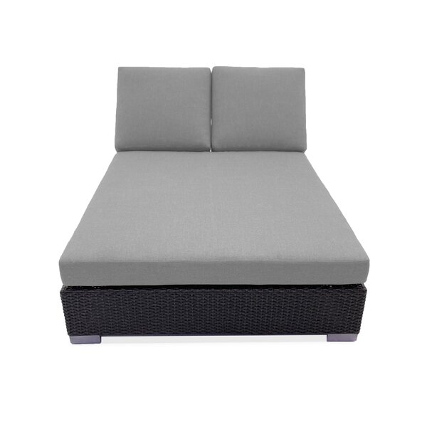 Sienna Double Reclining Chaise Lounge with Cushion
