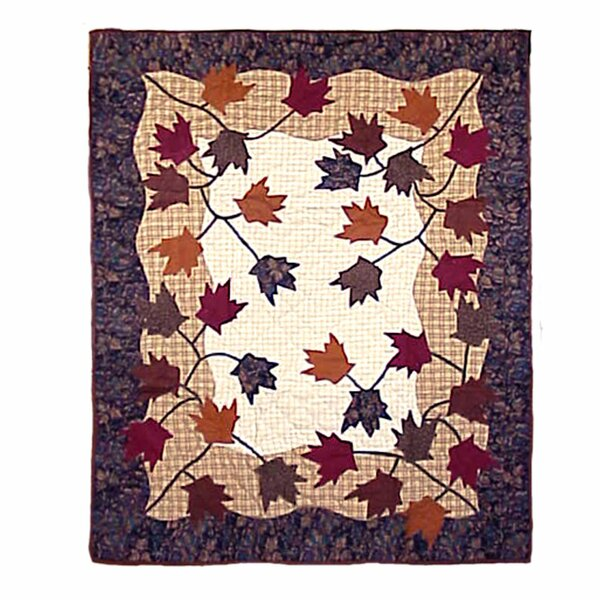 Autumn Leaves Cotton Throw by Patch Magic