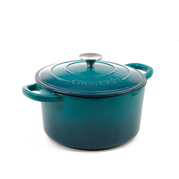 Blue Round Dutch Oven with Lid. Shop Drew's Honeymoon House! {Kitchen & Dining Room} #PropertyBrothers #teal #dutchoven