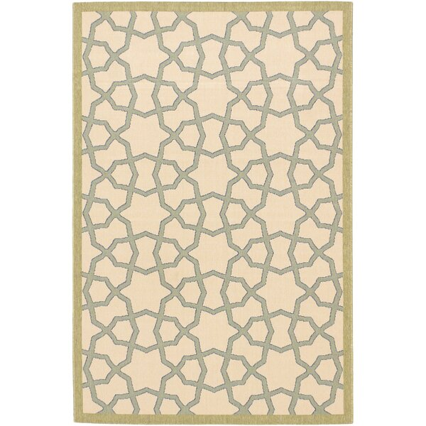Tropicana Ivory Indoor/Outdoor Area Rug by ECARPETGALLERY