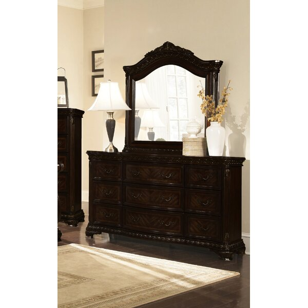Olcott 9 Drawer Dresser With Mirror By Canora Grey by Canora Grey Best Design