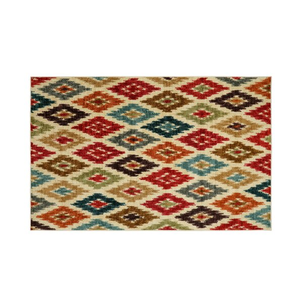 Gafford Red/Beige Area Rug by Bloomsbury Market