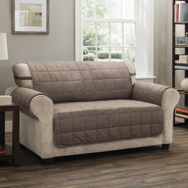 Compare Price T-Cushion Loveseat Slipcover