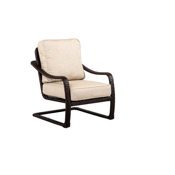 Palms All Weather Woven Spring Action Club Chair with Cushion by Outdoor Masterpiece