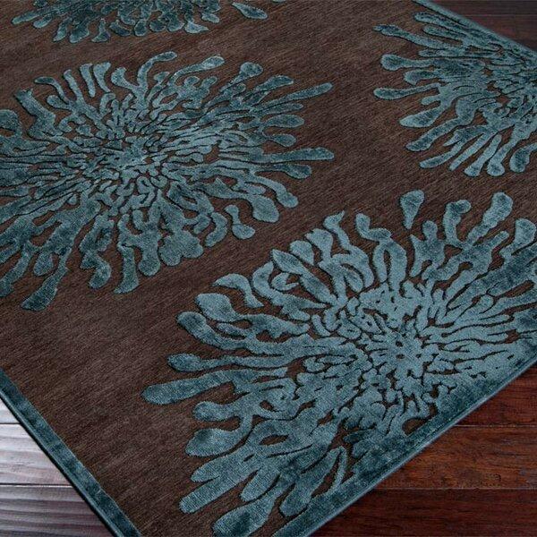 Nyla Mushroom/Teal Area Rug by Ebern Designs