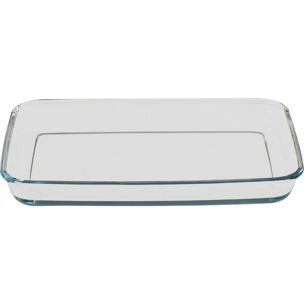 Borcam Rectangular 2 qt. Heat Resistant Roaster by Circle Glass