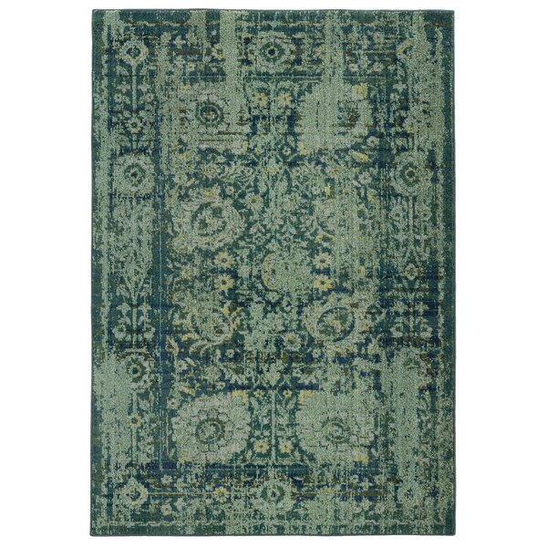 Expressions Oriental Green Area Rug by Pantone Universe