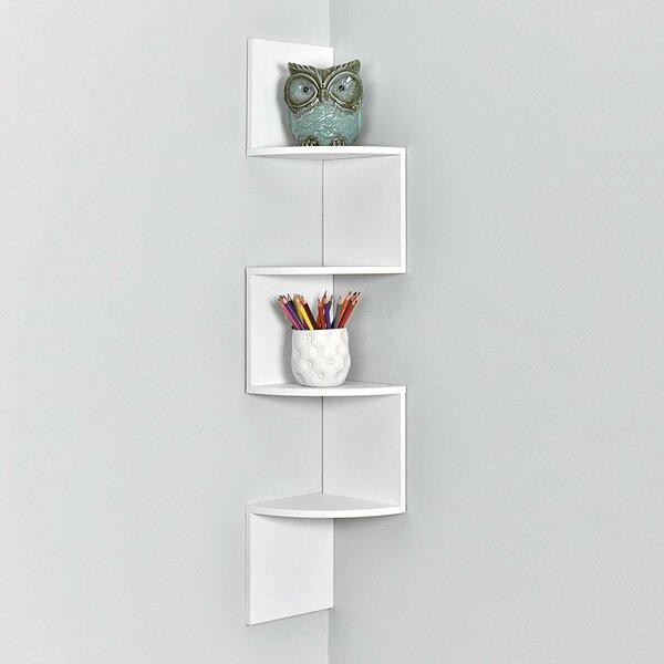 Zig Zag Corner Wall Shelf by Welland LLC