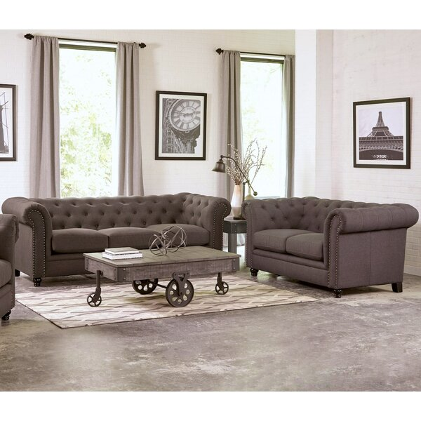 Geneva 2 Piece Living Room Set by Infini Furnishings